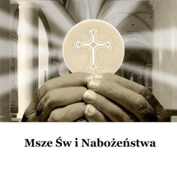 Nabożeństwa wielkopostne, zmiana godzin Mszy Świętych