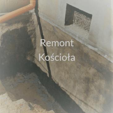 Remont podziemi naszego kościoła